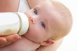 Bond little baby blue eyes drinking bottle milk