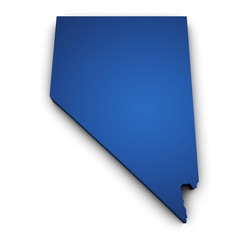 Map Of Nevada 3d Shape