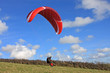 paraglider launching wing