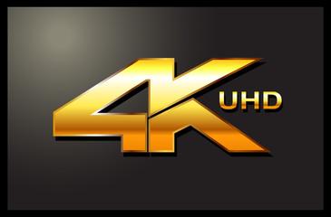 4k sign label emblem