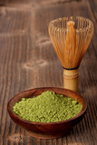 Japanese green powder tea