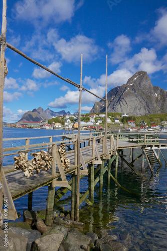 Aluminium Wooden pier in fjord