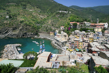 beautiful Vernazza in a sunny day