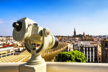 Observation monocular at Seville (Andalusia), Spain.