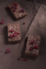 Brownies und Cranberries