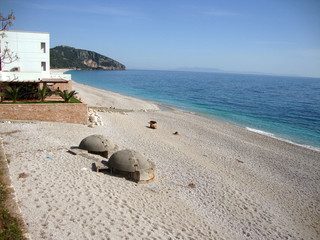 Dhermi village, Drymades beach, South Albania