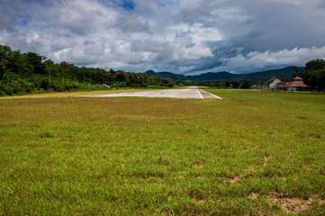 Airport in Pai, northern Thailand