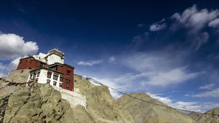 India Ladakh LEh Tze monastery time lapse