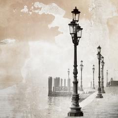 Vintage image of Venice