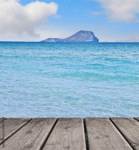 Fotobehang Een Hoekje om te Dromen la isla del mar azul
