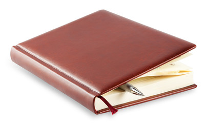 Diary with mortgaged pen