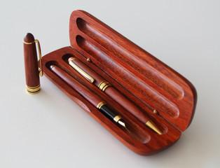 Pens in a case