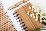 Pen and notebook made from sustainable bamboo