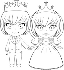 Prince and Princess Coloring Page 2