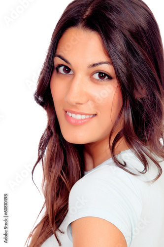 Portrait of a pretty brunette girl