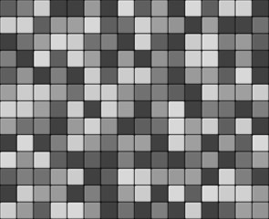 Gray smooth tiles mosaic