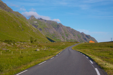 Road on Lofoten Islands