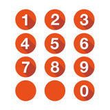 Numbers set. Vector flat design