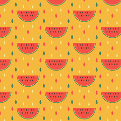 retro watermelon pattern