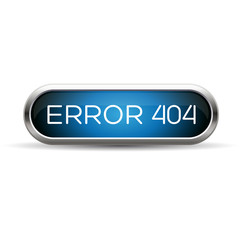 Error 404 web blue button