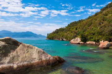 Tropical Beach in Ilha Grande Island, Rio de Janeiro State