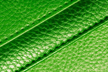 background of green leather