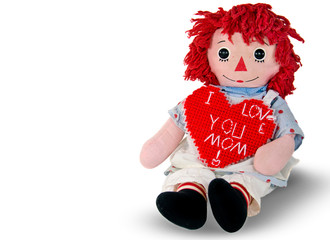 rag doll with heart for Mom