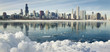 Winter panorama of Chicago.
