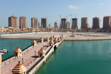 Marina in Porto Arabia. Doha, Qatar, Middle East