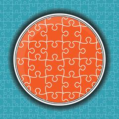 Puzzle pieces vector design