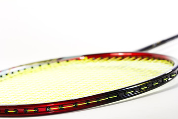 Badminton rackets  isolated on white background