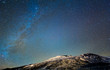 canvas print picture - Milky Way above the volcano Etna. Sicily, Italy