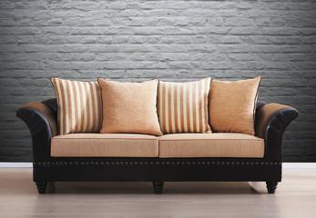 orange vintage couch
