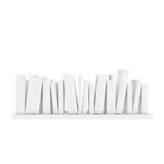 shelf with books standing
