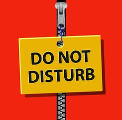 do not disturb signboard