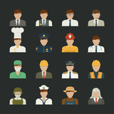 People icon ,professions icons , worker set