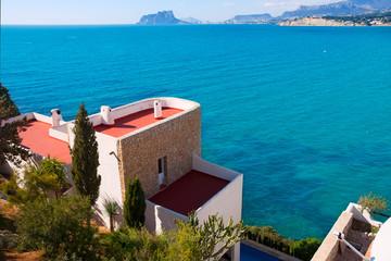 Moraira Alicante high angle view mediterranean houses