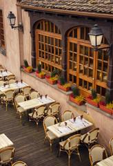 street restaurant in Strasbourg, Spain