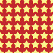 seamless pattern of yellow stars on a red background.holiday bac