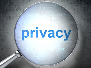 Security concept: Privacy with optical glass