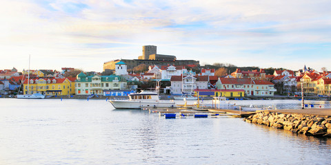 Marstrand Island in Sweden, view from mainland
