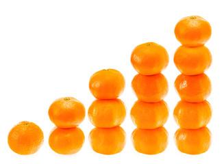 Stacked Fresh Mandarin On