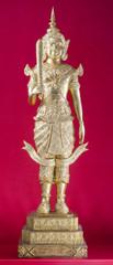 Antique golden angel statue