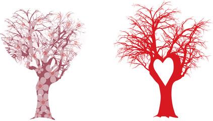 Valentines trees