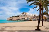 Fototapety Peniscola Castle and beach in Castellon Spain