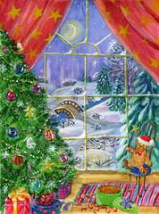 The magic of Christmas night