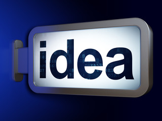 Marketing concept: Idea on billboard background