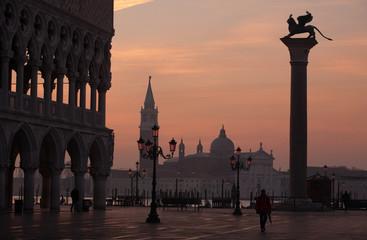 sunrise at San Marco square in Venice