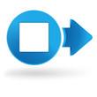 carré blanc sur symbole web bleu