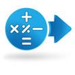 calculatrice sur symbole web bleu